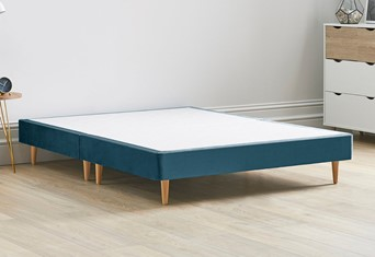 Divan Bed Base On Wooden Legs - 4'0'' Small Double Marine