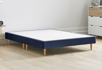 Divan Bed Base On Wooden Legs - 4'0'' Small Double Sapphire
