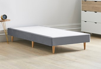 Divan Bed Base On Wooden Legs - 3'0'' Standard Single Titanium