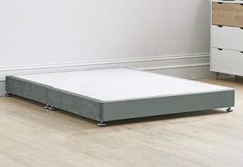 Low Divan Bed Base on Chrome Glides - 6'0'' Super King Clay