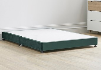 Low Divan Bed Base on Chrome Glides - 4'6'' Standard Double Duckegg