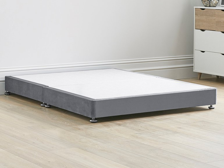 Low Divan Bed Base on Chrome Glides