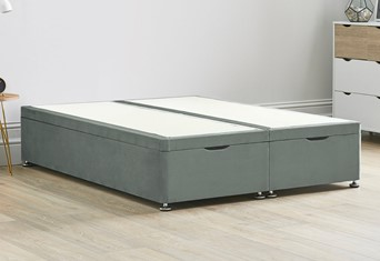 Ottoman Storage End Lift Divan Bed Base - 6'0'' Super King Titanium