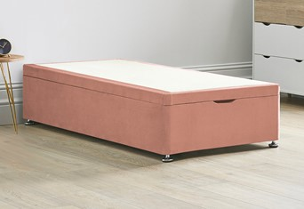 Ottoman Storage End Lift Divan Bed Base - 3'0'' Standard Single Pink