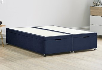 Ottoman Storage End Lift Divan Bed Base - 4'6'' Standard Double Sapphire