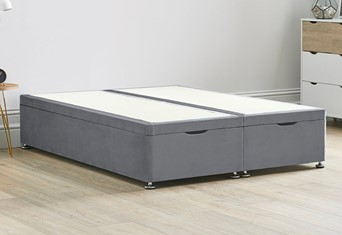 Ottoman Storage End Lift Divan Bed Base - 5'0'' King Size Titanium