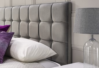 Quad Headboard - Small Single 2'6'' Titanium
