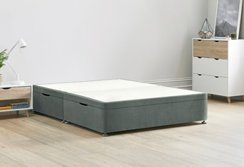 Ottoman Storage Side Lift Divan Bed Base - 4'6'' Standard Double Clay