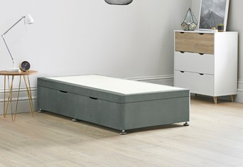Ottoman Storage Side Lift Divan Bed Base - 3'0'' Standard Single Clay