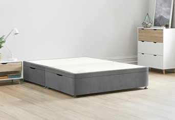 Ottoman Storage Side Lift Divan Bed Base - 4'0'' Small Double Titanium
