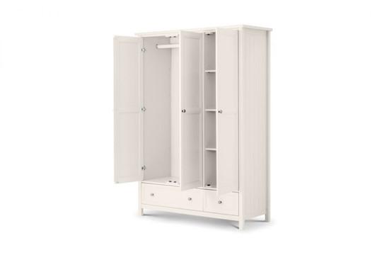 Maine White 3 Door Combination Wardrobe