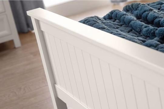 Maine White Wooden Bedframe
