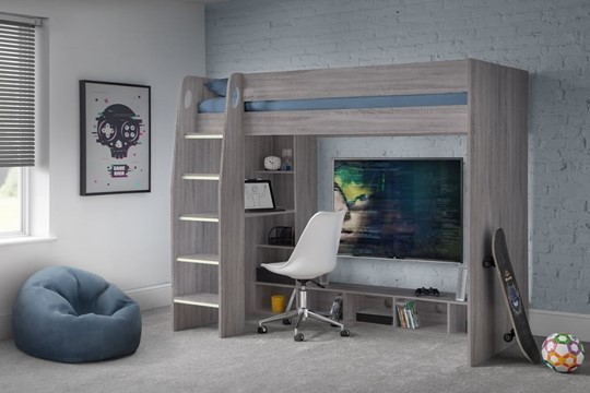 Nebula Gaming Bed with Desk
