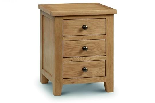 Marlborough Oak 3 Drawer Bedside