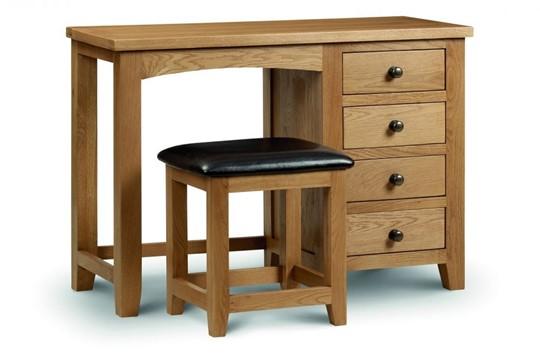 Marlborough Oak Single Pedestal Dressing Table
