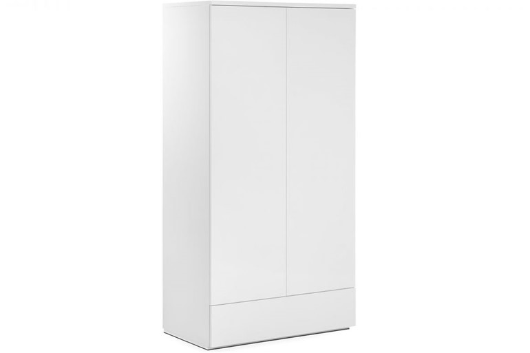 Monaco White 2 Door Combination Wardrobe